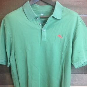 Tommy Bahama Short Sleeve Large Green Polo